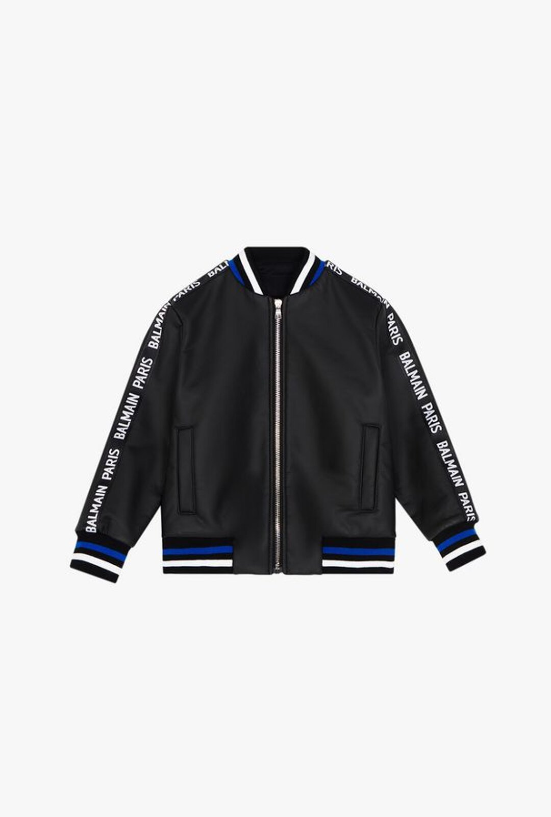 Black Jacket With Balmain Logo - Balmain Junior
