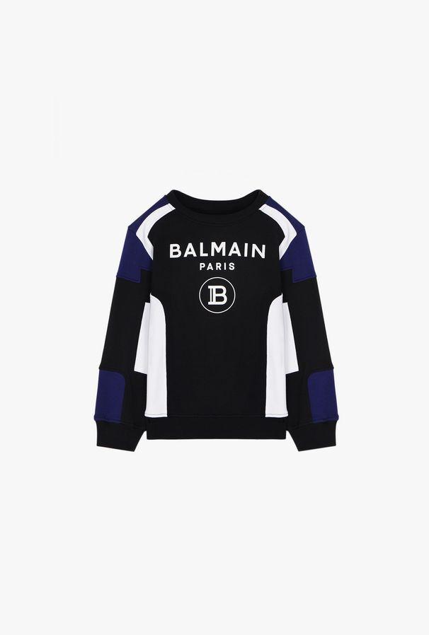 Felpa In Cotone Con Logo Balmain Bianco - Balmain Junior