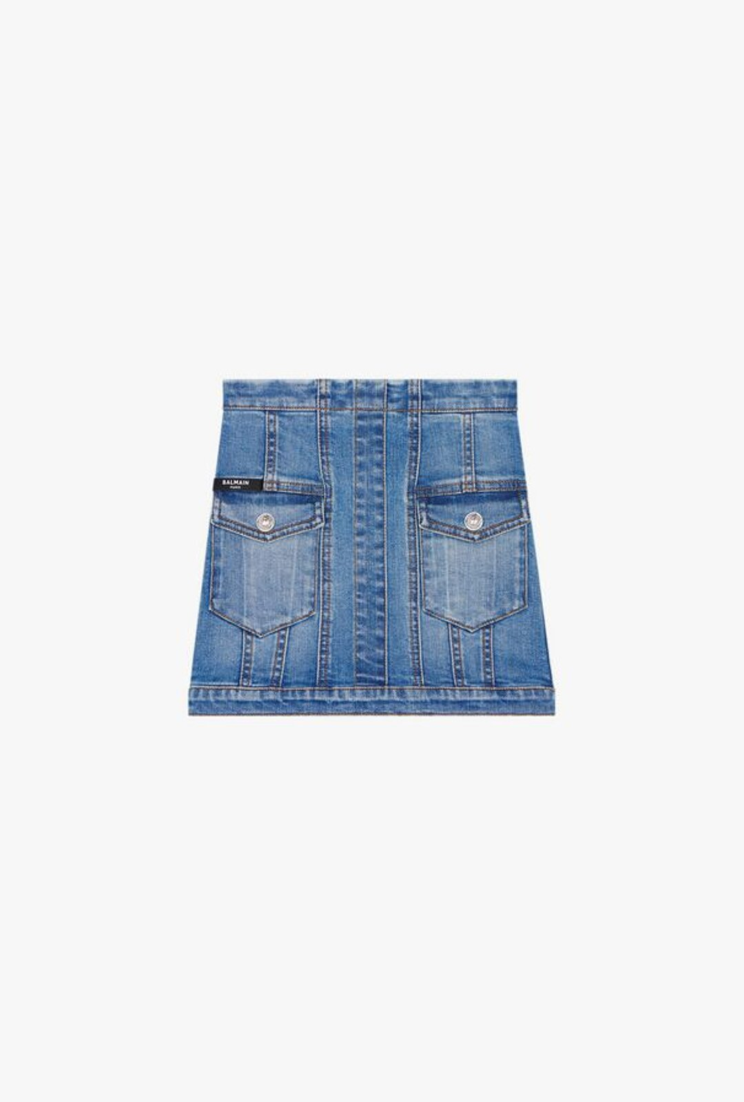 Blue Denim Skirt - Balmain Junior