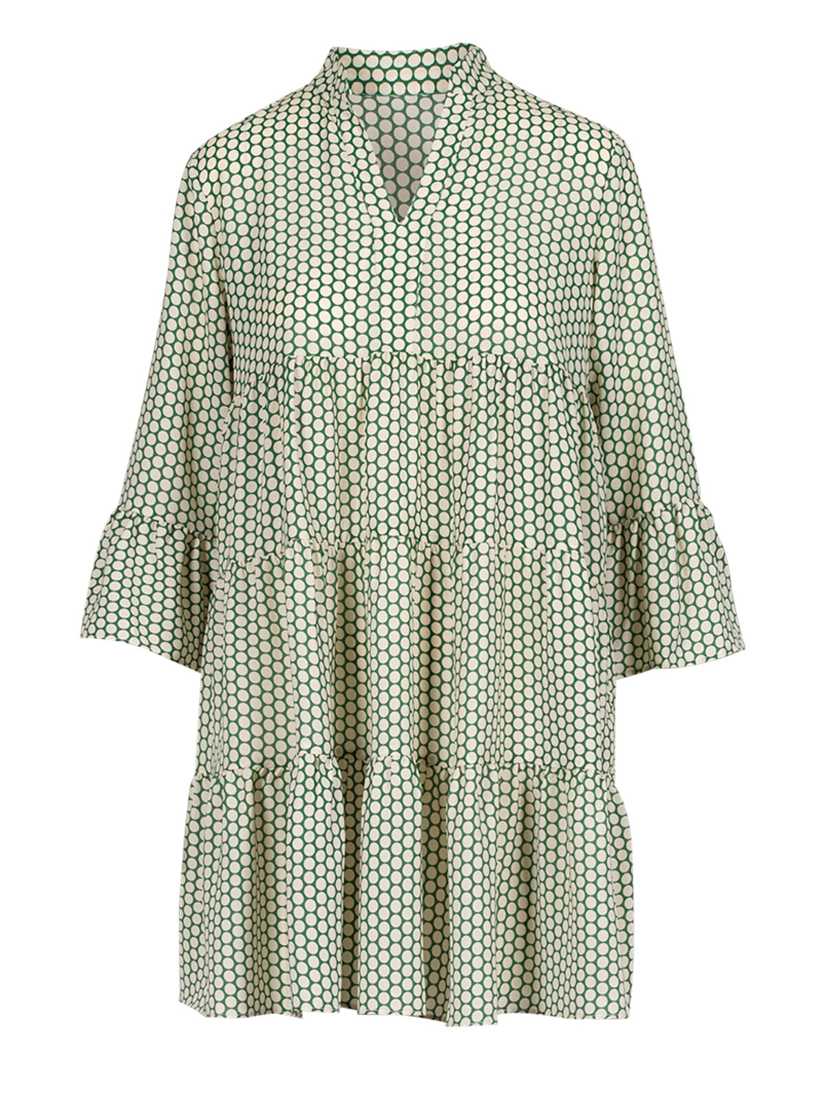 Duilia Green Dots Dress - Anonyme Designers