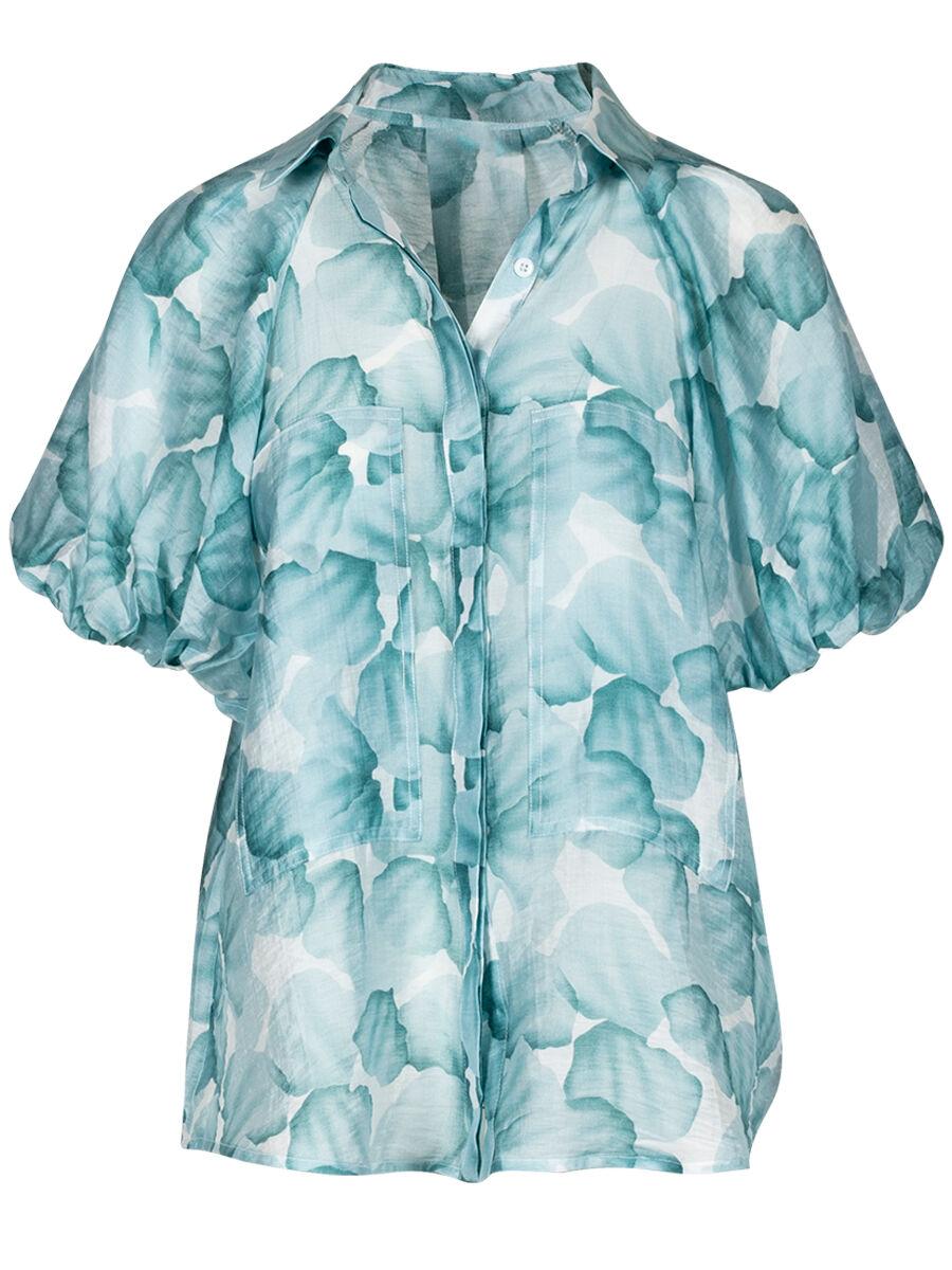 Thea Aqua Shirt - Anonyme Designers
