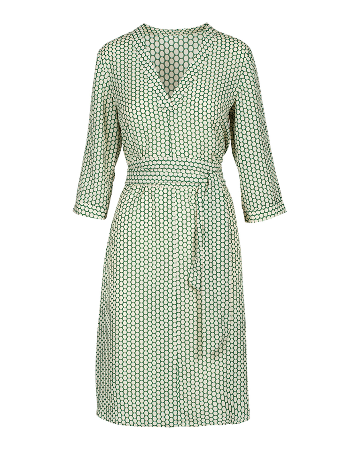 Diana Green Dots Dress - Anonyme Designers