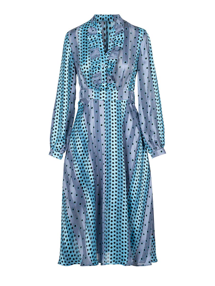 Dan Stripes Dots Dress - Anonyme Designers