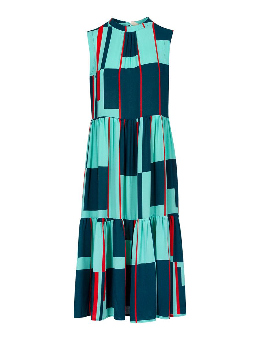 Dafne Windowpane Dress - Anonyme Designers
