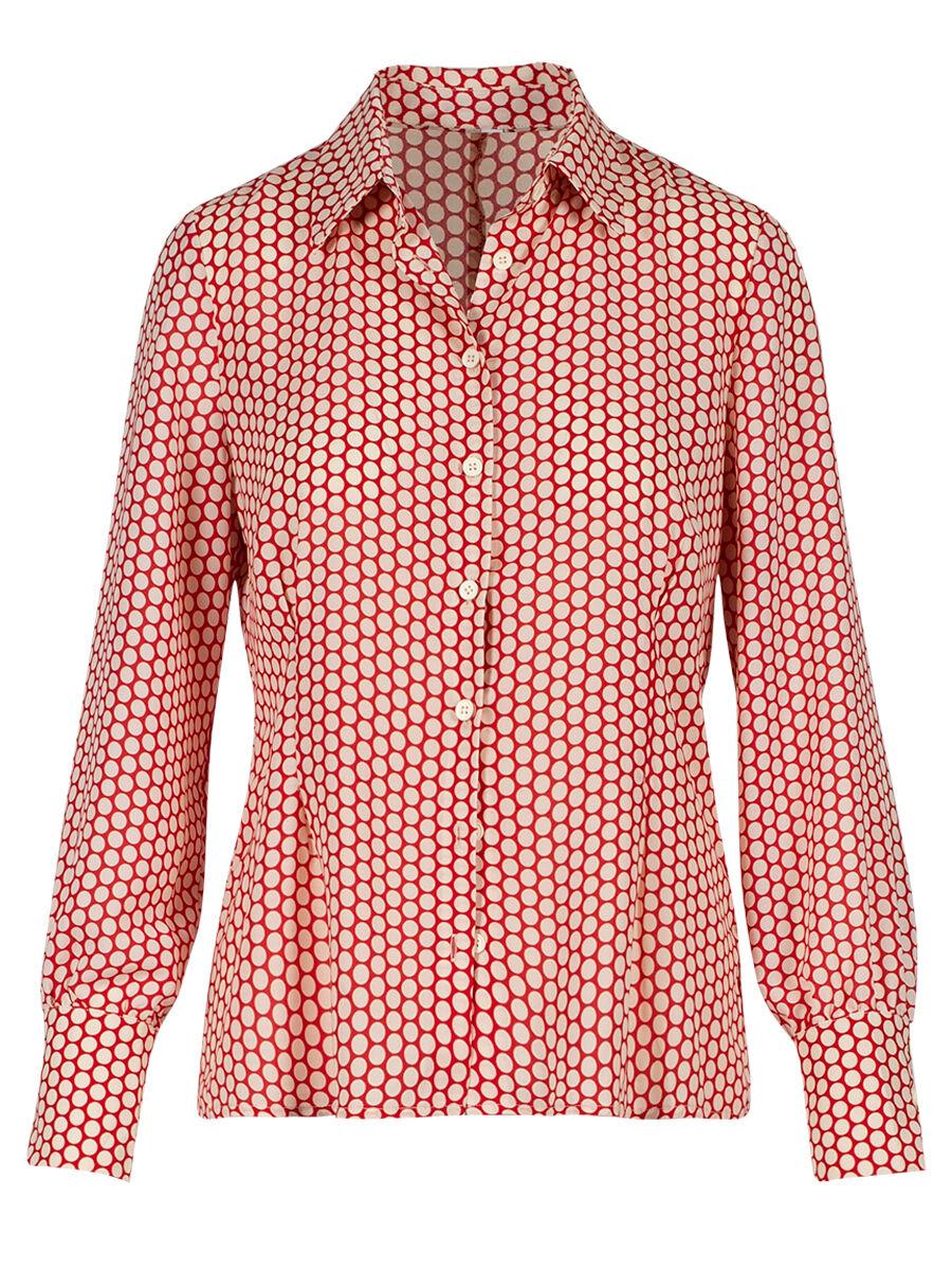 Tarquinia Red Dots Shirt - Anonyme Designers