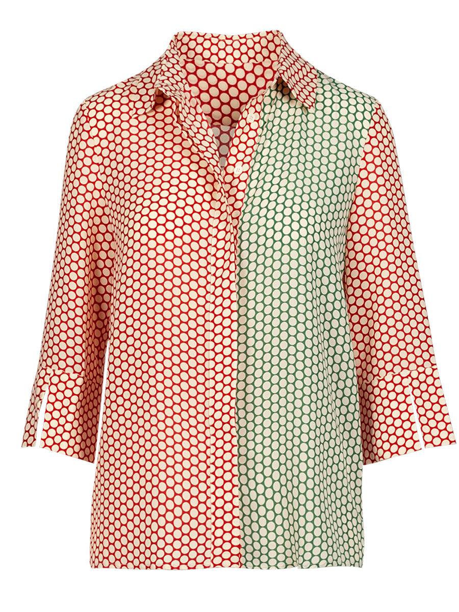 Teudosia Red Dots Shirt - Anonyme Designers