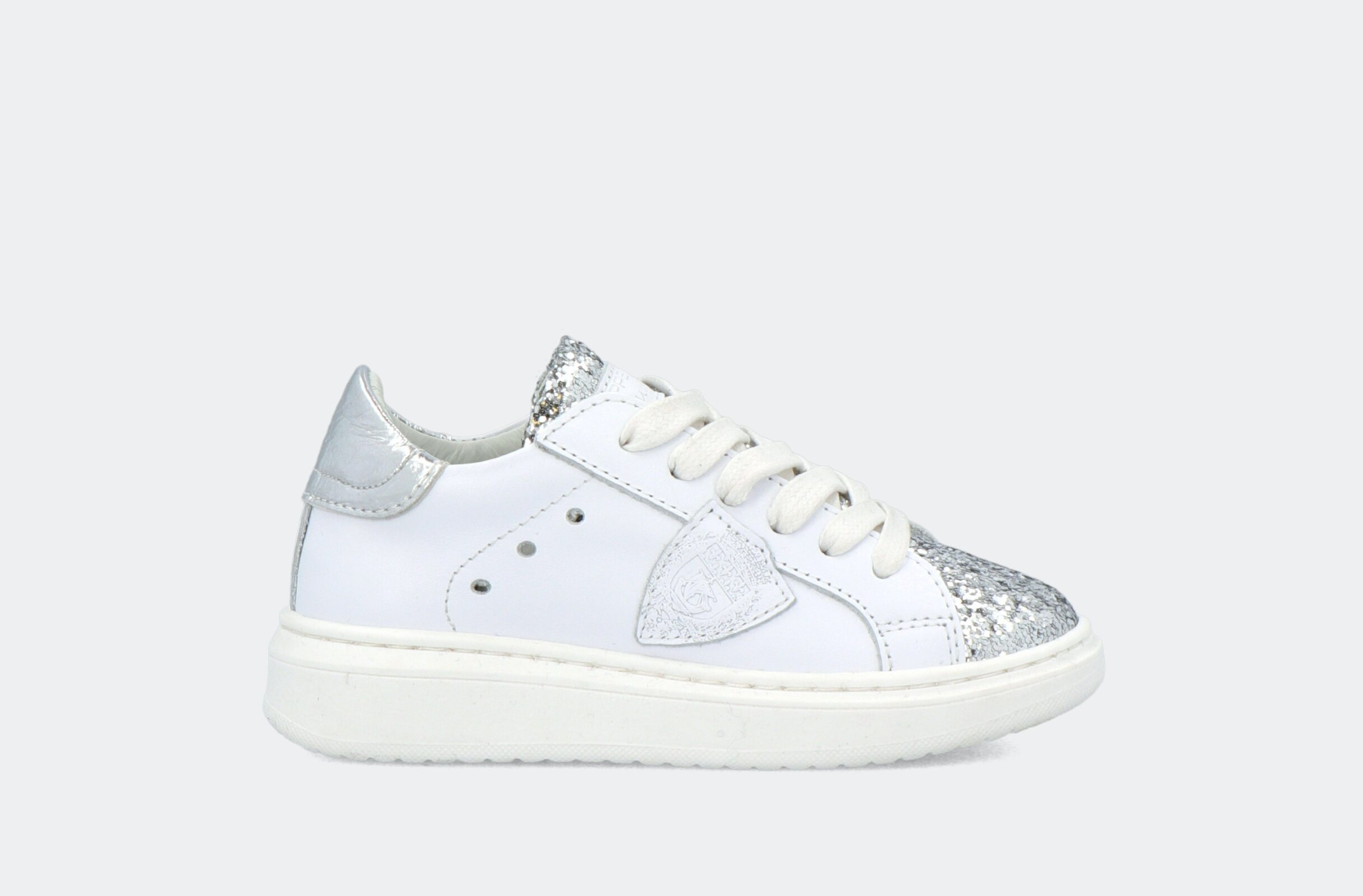 Granville L Juniorveau Glitter Blanc Argent - Philippe Model Junior