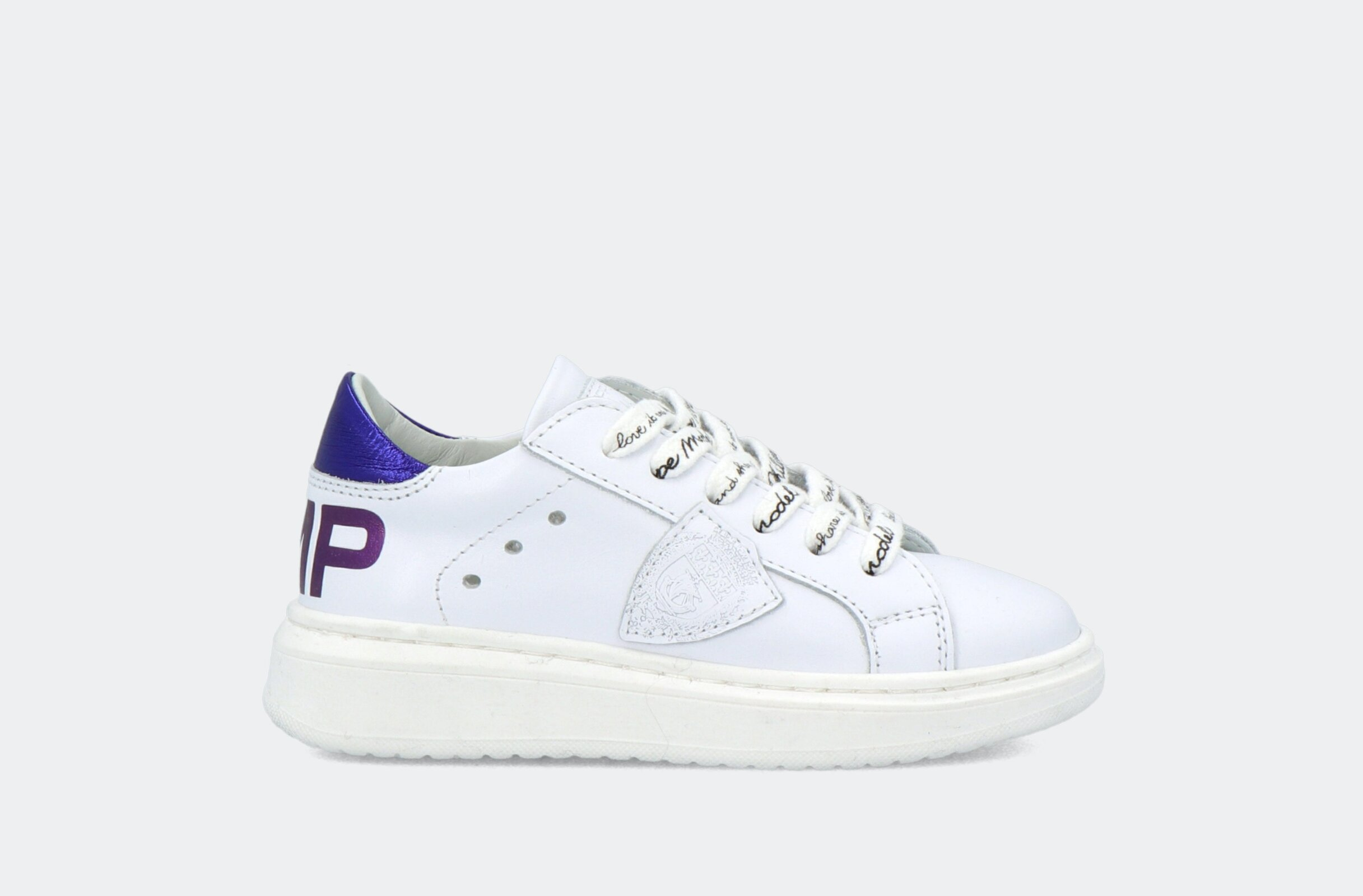 Granville Pmp L Juniorveau Metal Blanc Violet - Philippe Model Junior