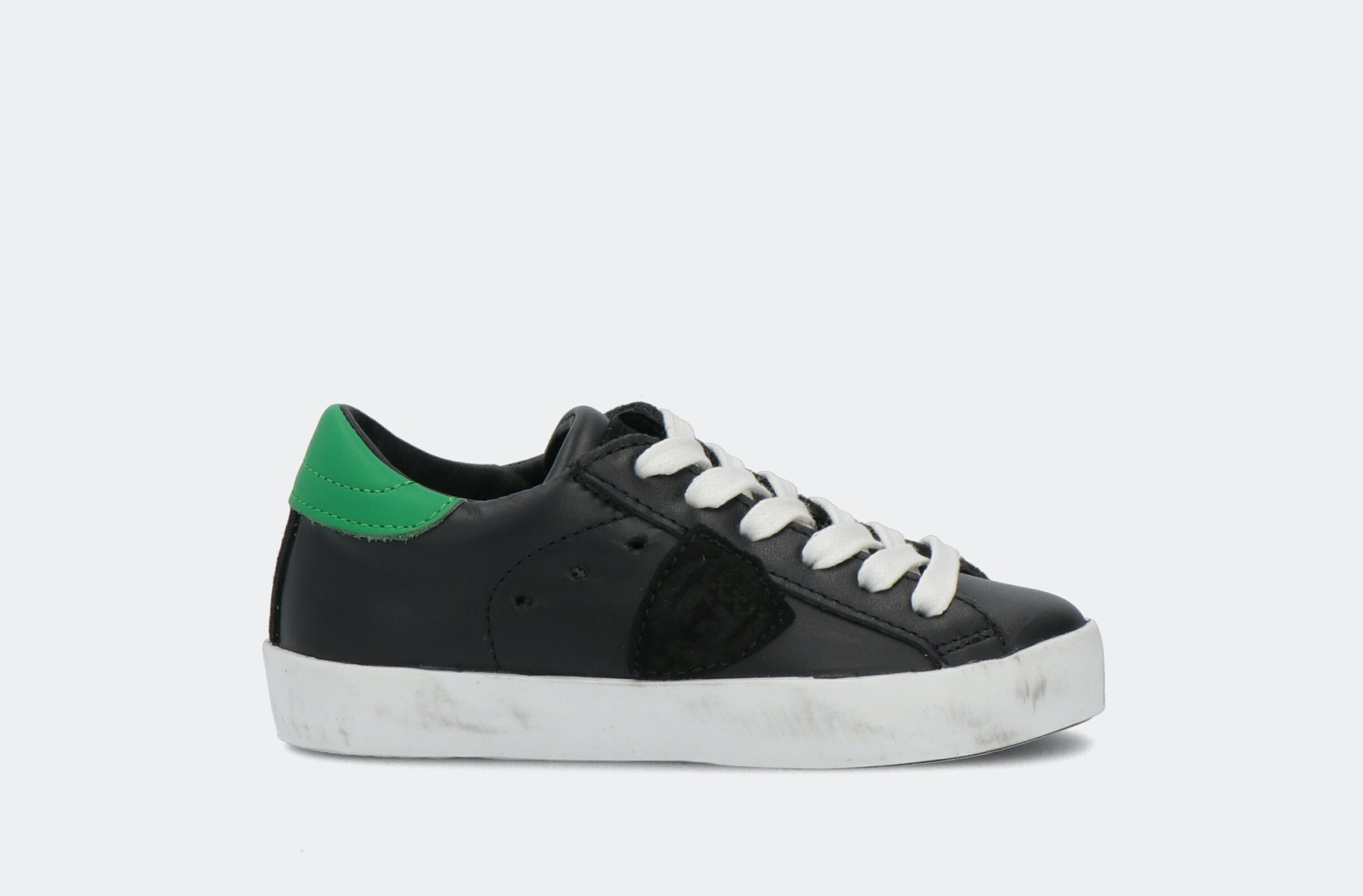 Paris L Juniorveau Noir Vert - Philippe Model Junior