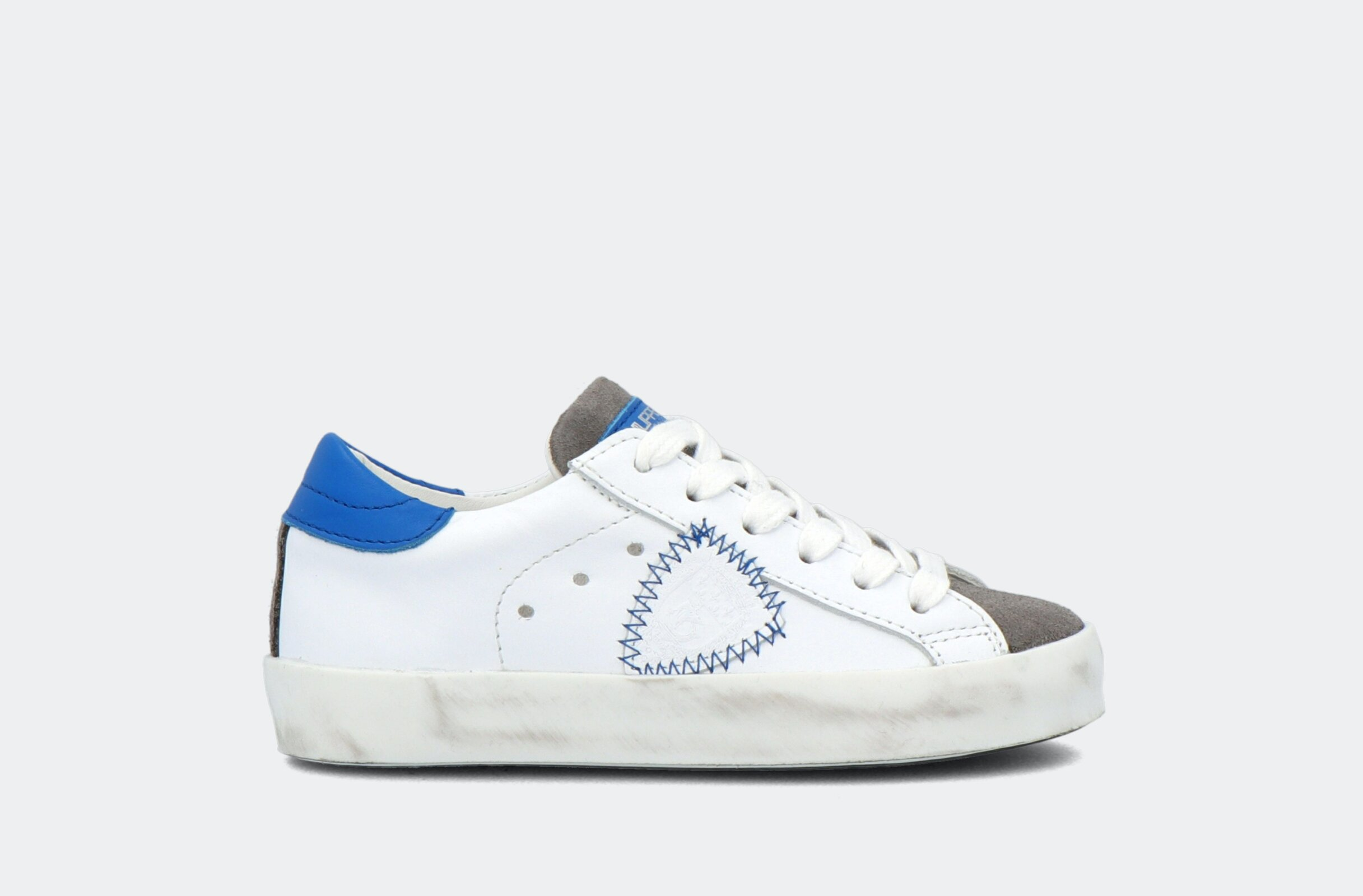 Paris L Juniorveau Mixage Blanc Bluette - Philippe Model Junior