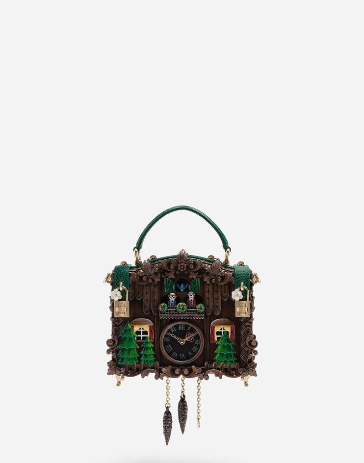 Borsa Dolce Box Orologio Cucu In Resina Dipinta - Dolce & Gabbana