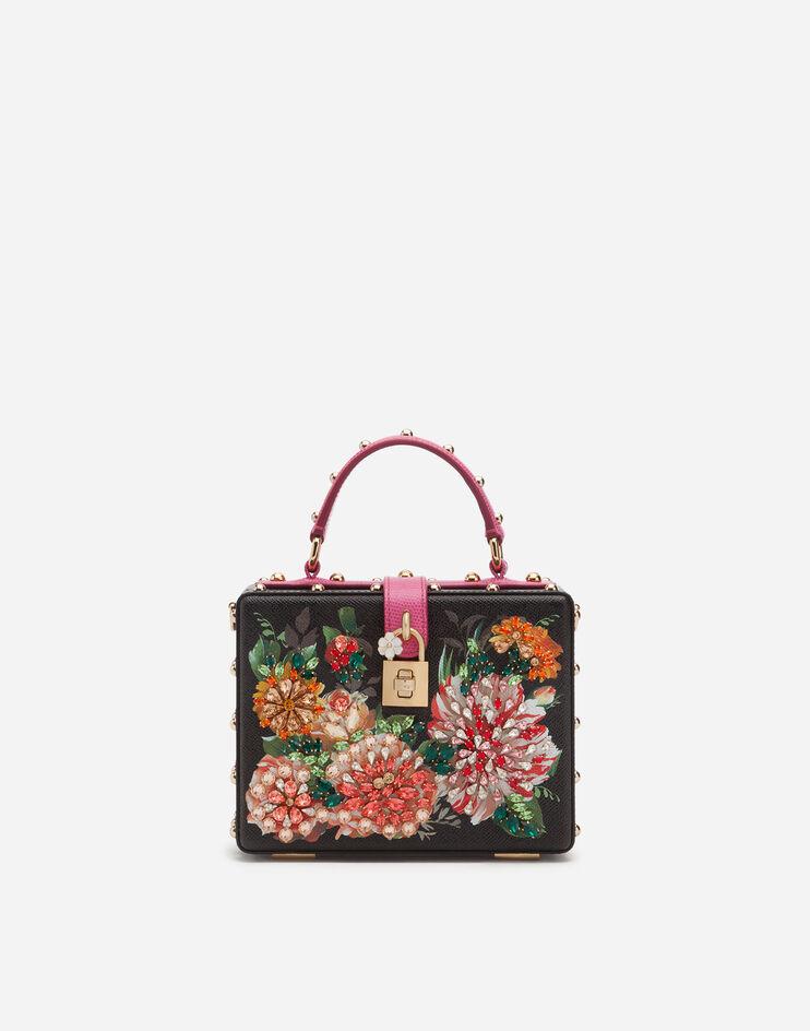 Borsa Dolce Box In Vitello Dauphine Stampato Con Ricami - Dolce & Gabbana