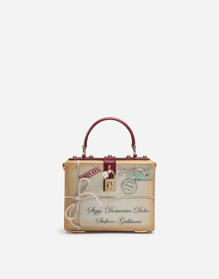 Borsa Dolce Box In Legno Intarsiato - Dolce & Gabbana