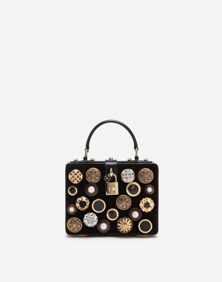 Borsa Dolce Box In Velluto Con Ricami - Dolce & Gabbana