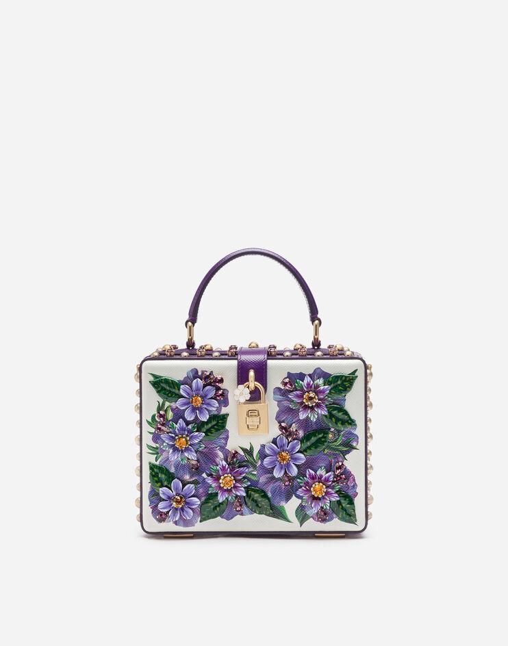 Borsa Dolce Box In Vitello Stampa Anemoni E Ricami - Dolce & Gabbana