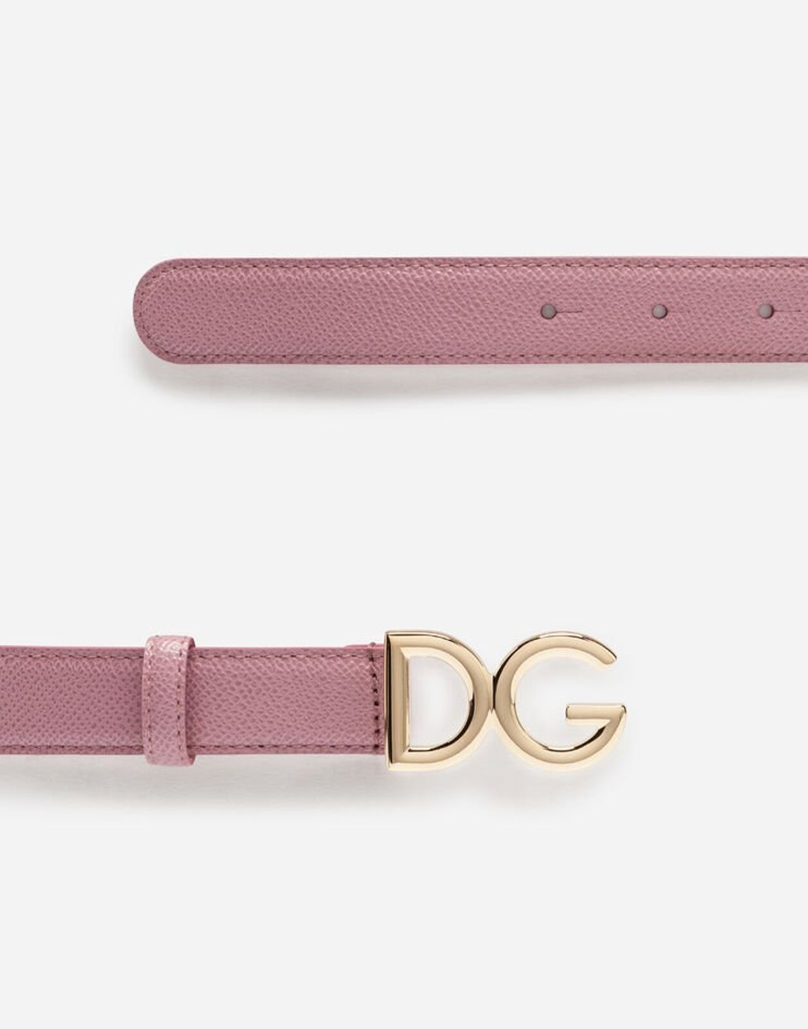 Cintura In Vitello Dauphine - Dolce & Gabbana