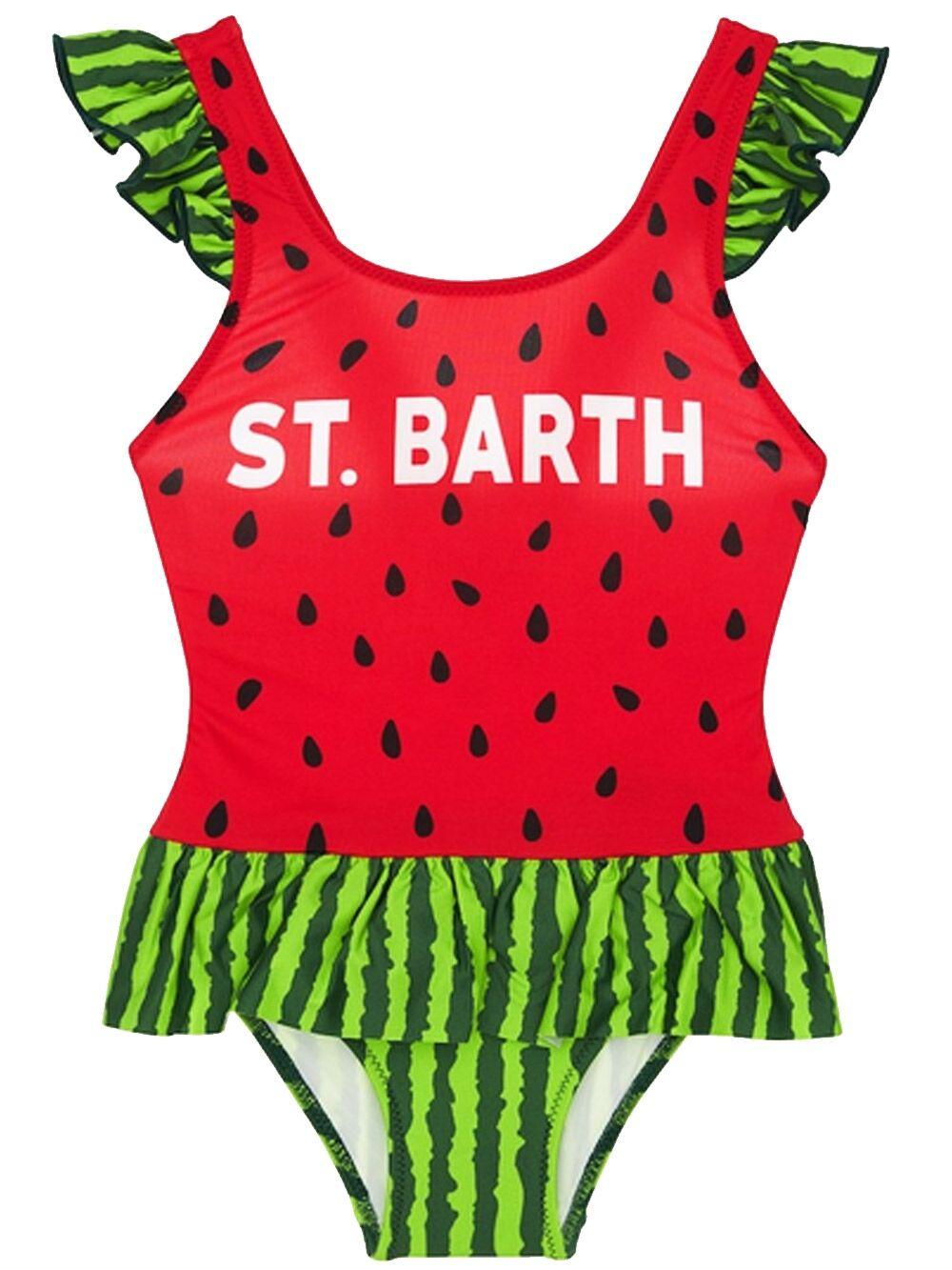 Costume Bimba Intero Stampa Anguria Con Balza - MC2 Saint Barth Junior