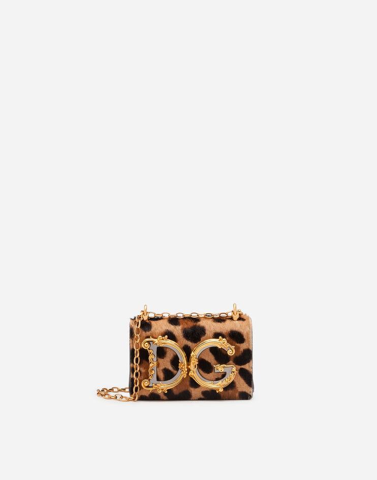 Micro Bag Dg Girls In Pony Stampa Leo - Dolce & Gabbana