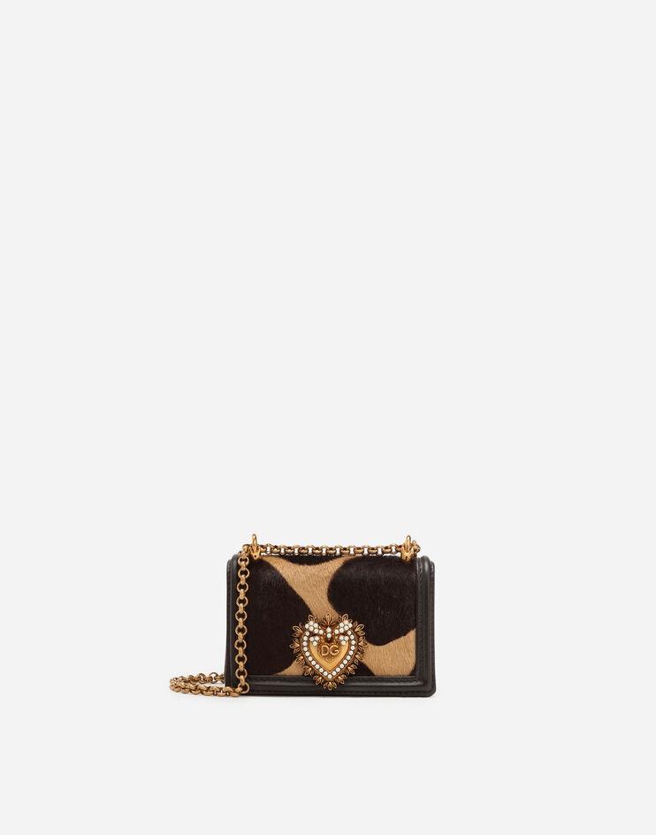 Micro Bag Devotion In Pony Stampa Giraffa - Dolce & Gabbana