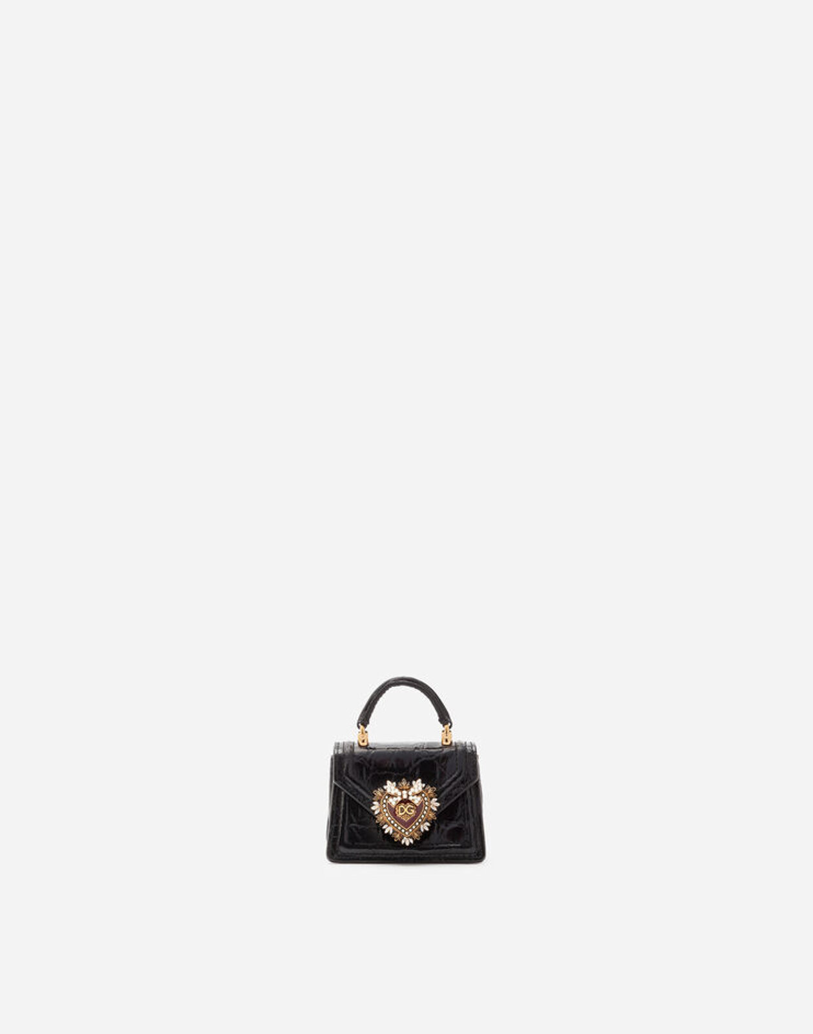 Micro Bag Devotion In Fianchi Cocco - Dolce & Gabbana