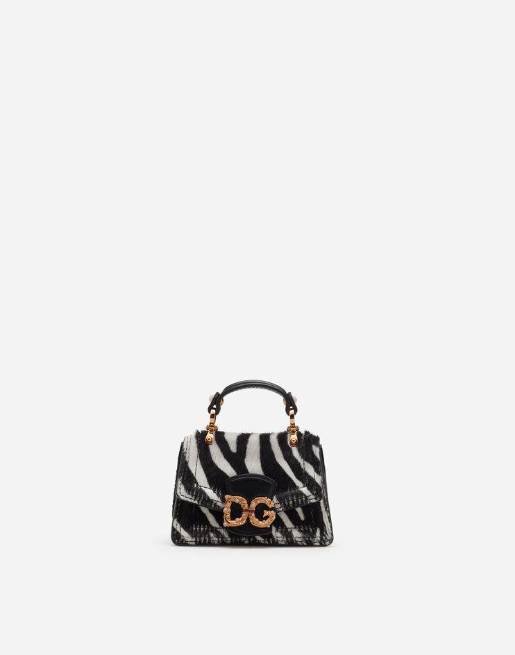 Micro Bag Dg Amore In Pony Stampa Zebra - Dolce & Gabbana