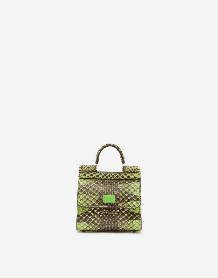 Micro Bag Sicily 58 In Elaphe Stampa Pitone - Dolce & Gabbana