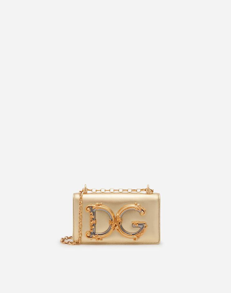 Phone Bag Dg Girls In Nappa Mordoré - Dolce & Gabbana