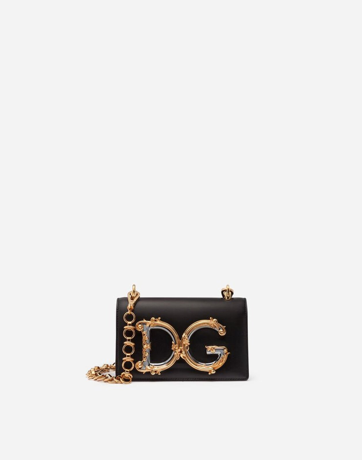 Mini Bag Dg Girls In Vitello Liscio - Dolce & Gabbana