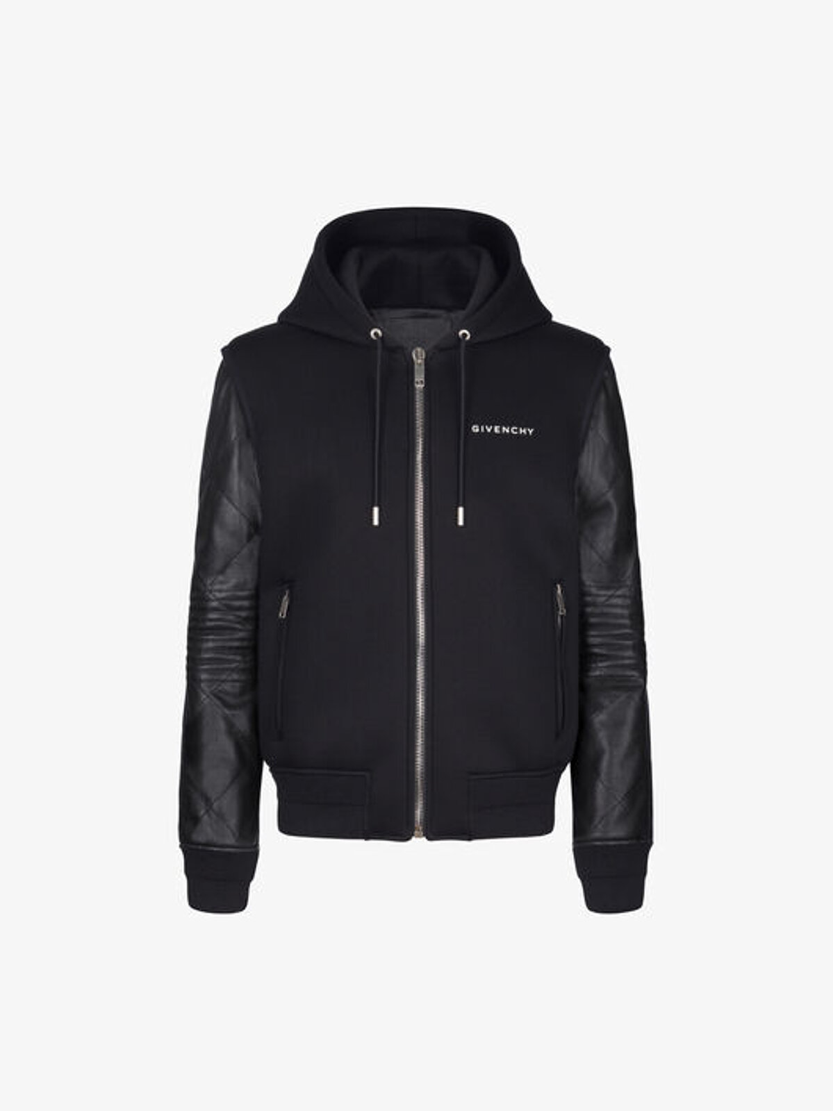 Neoprene and leather jacket - Givenchy