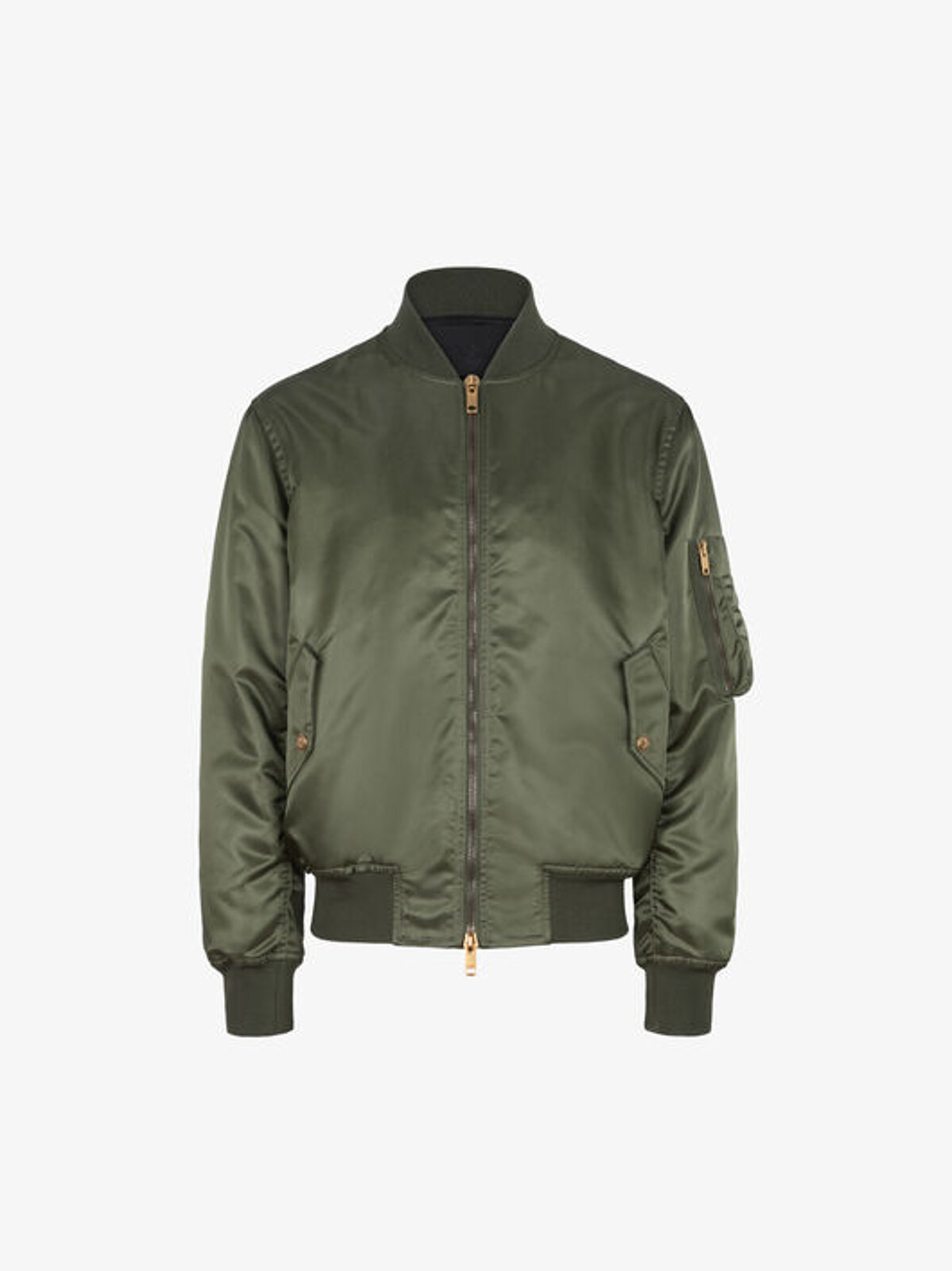 Bomber in satin nylon with 4G buttons - Givenchy