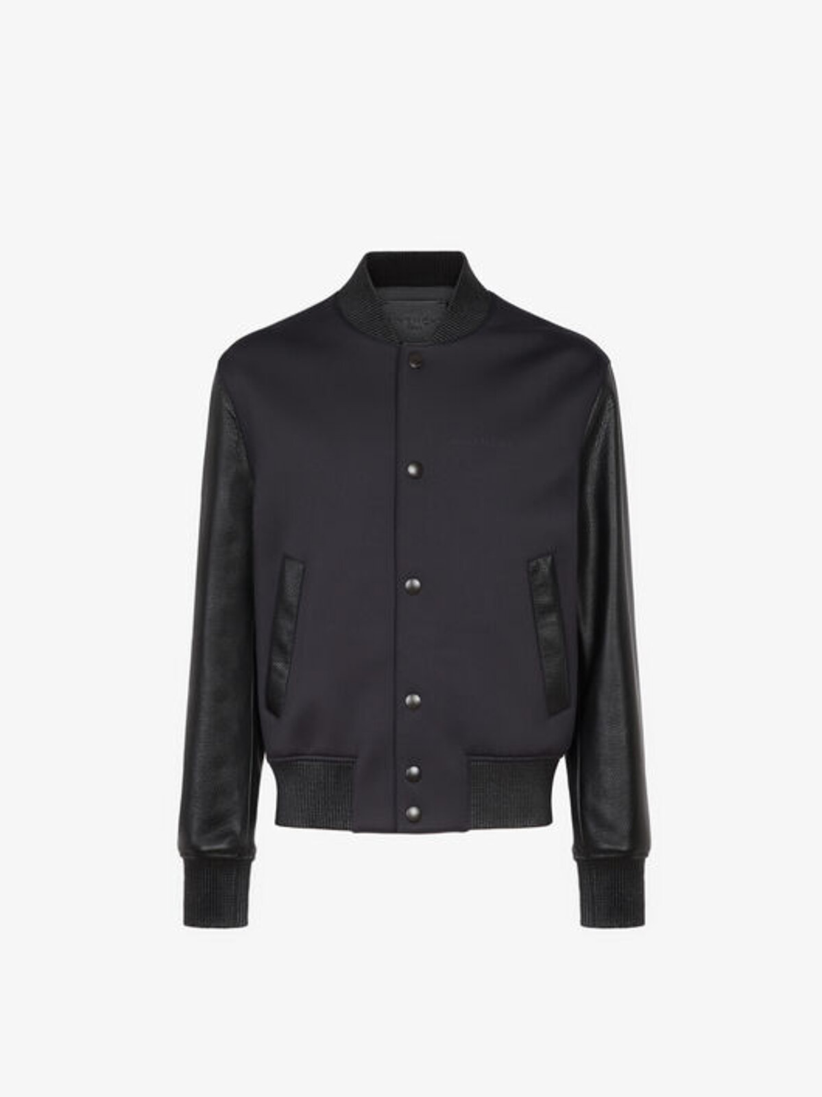 GIVENCHY neoprene and leather bomber jacket - Givenchy