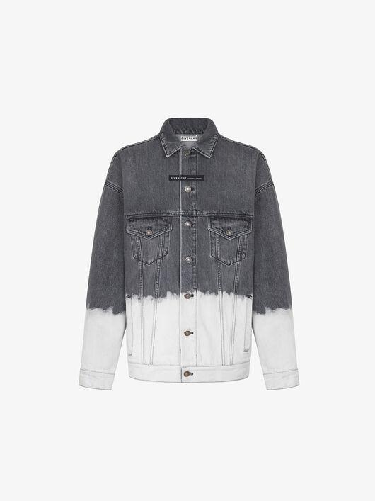 Oversized two-tone denim jacket - Givenchy