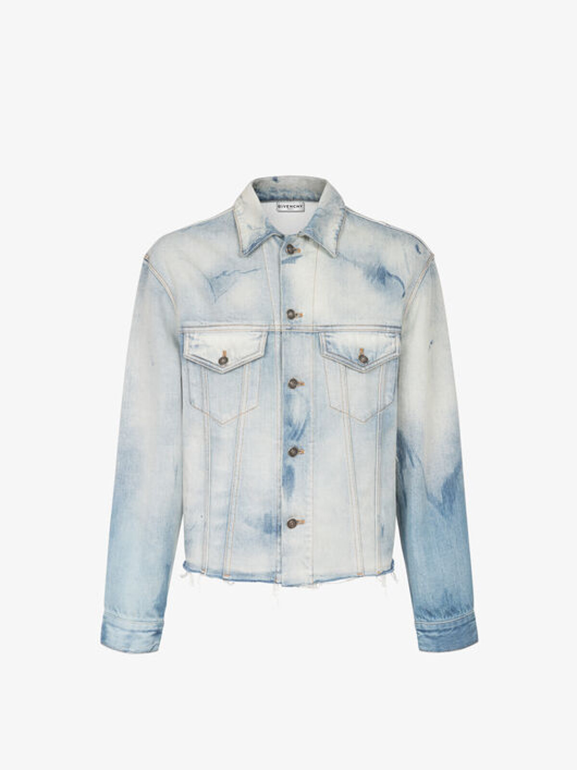 Raw cut washed denim jacket - Givenchy