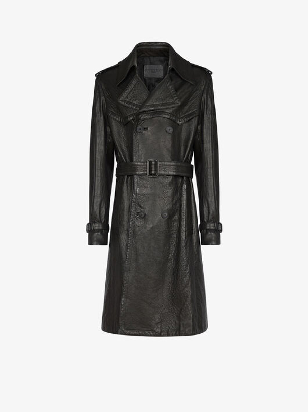 Leather trench coat with belt - Givenchy