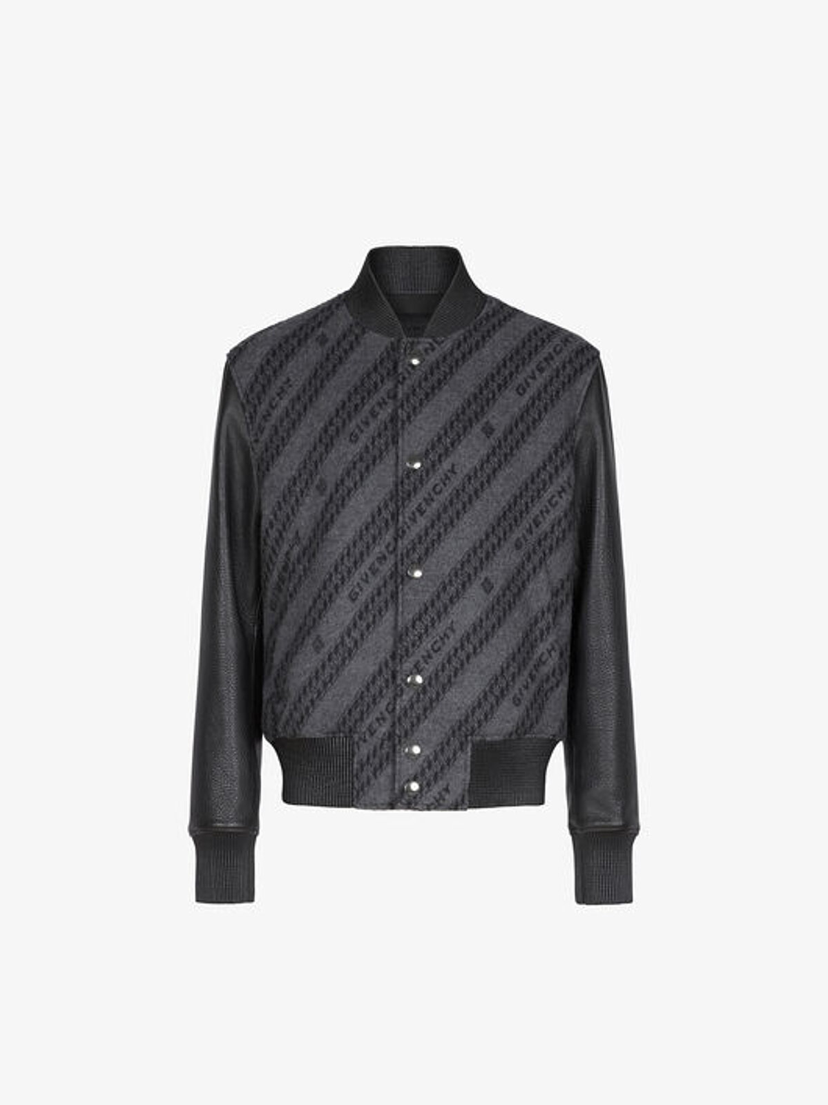 Bomber Givenchy Chaîne In Jacquard E Pelle - Givenchy