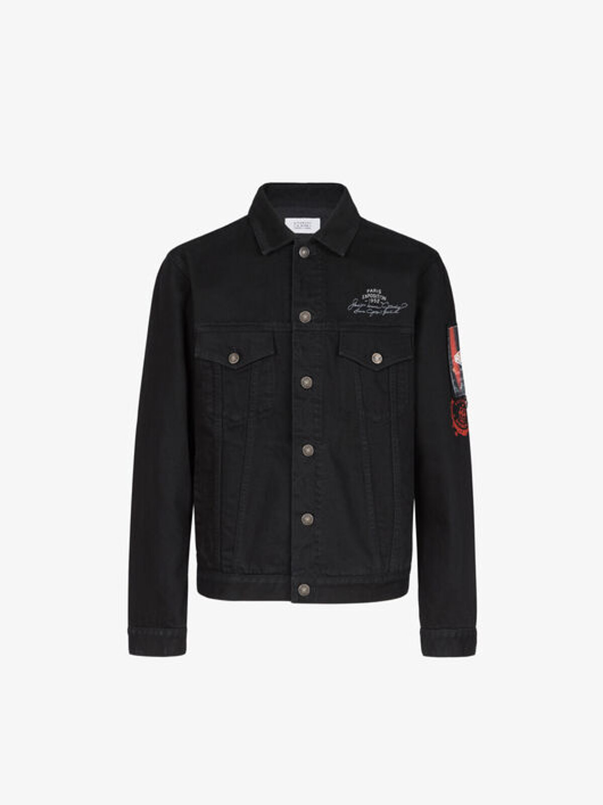 GIVENCHY denim jacket with applications - Givenchy