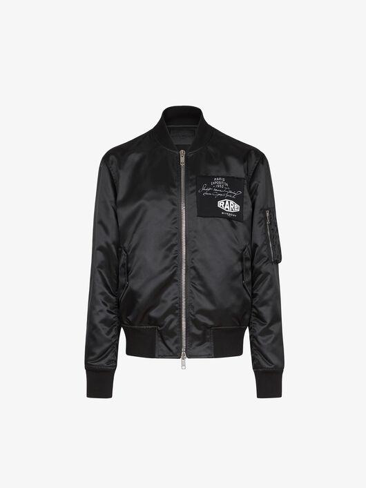 Shiny nylon bomber jacket with applications - Givenchy