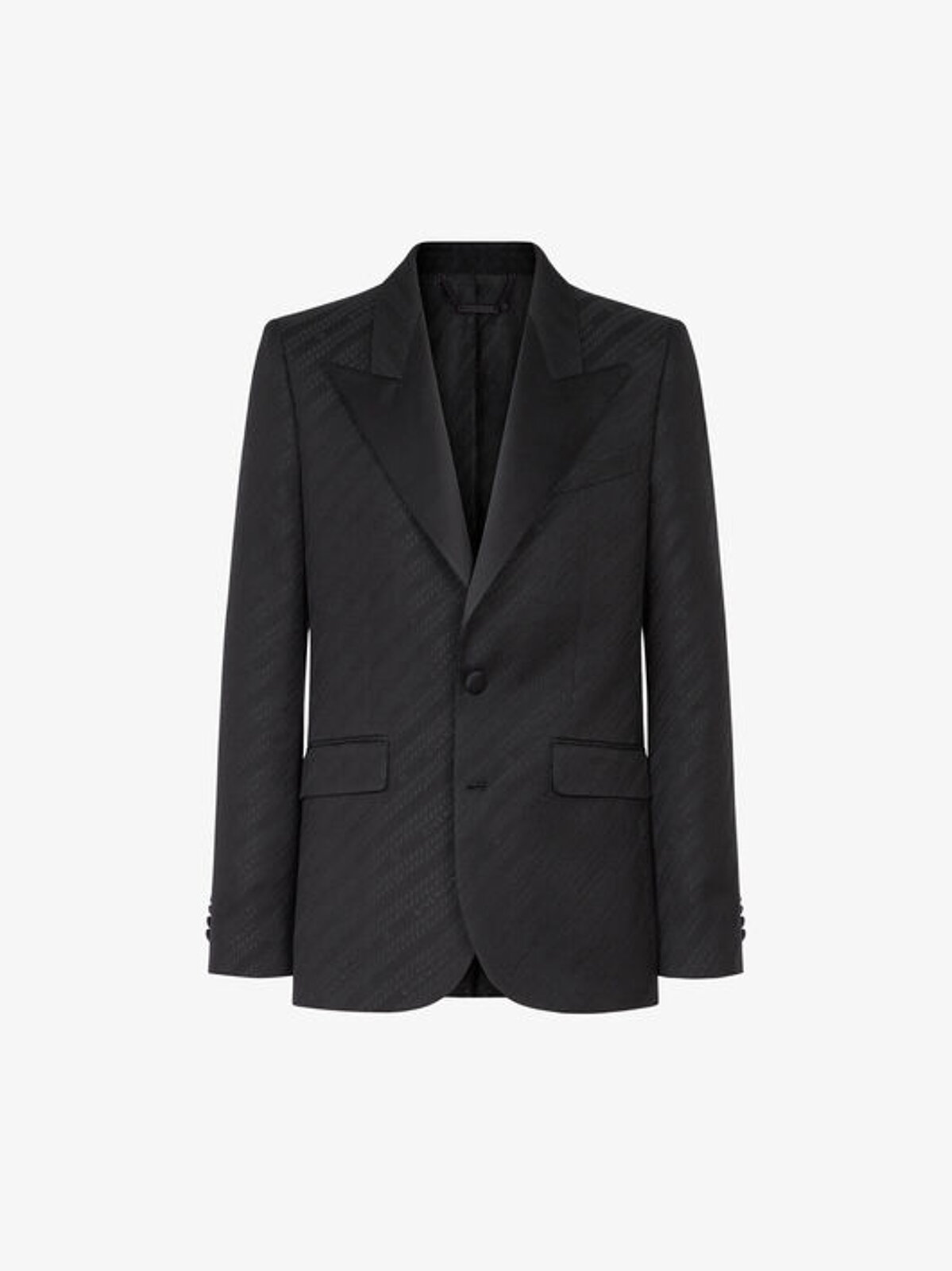 Giacca Jacquard Givenchy Chaîne Con Collo In Satin - Givenchy