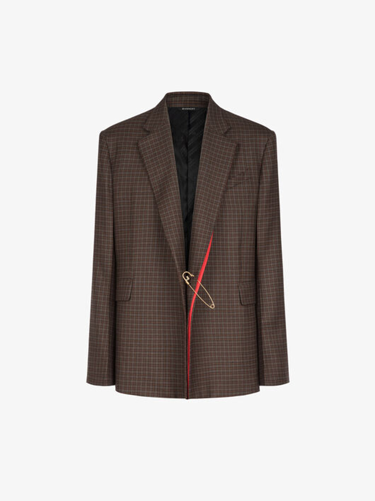 Checked jacket with contrasting details - Givenchy