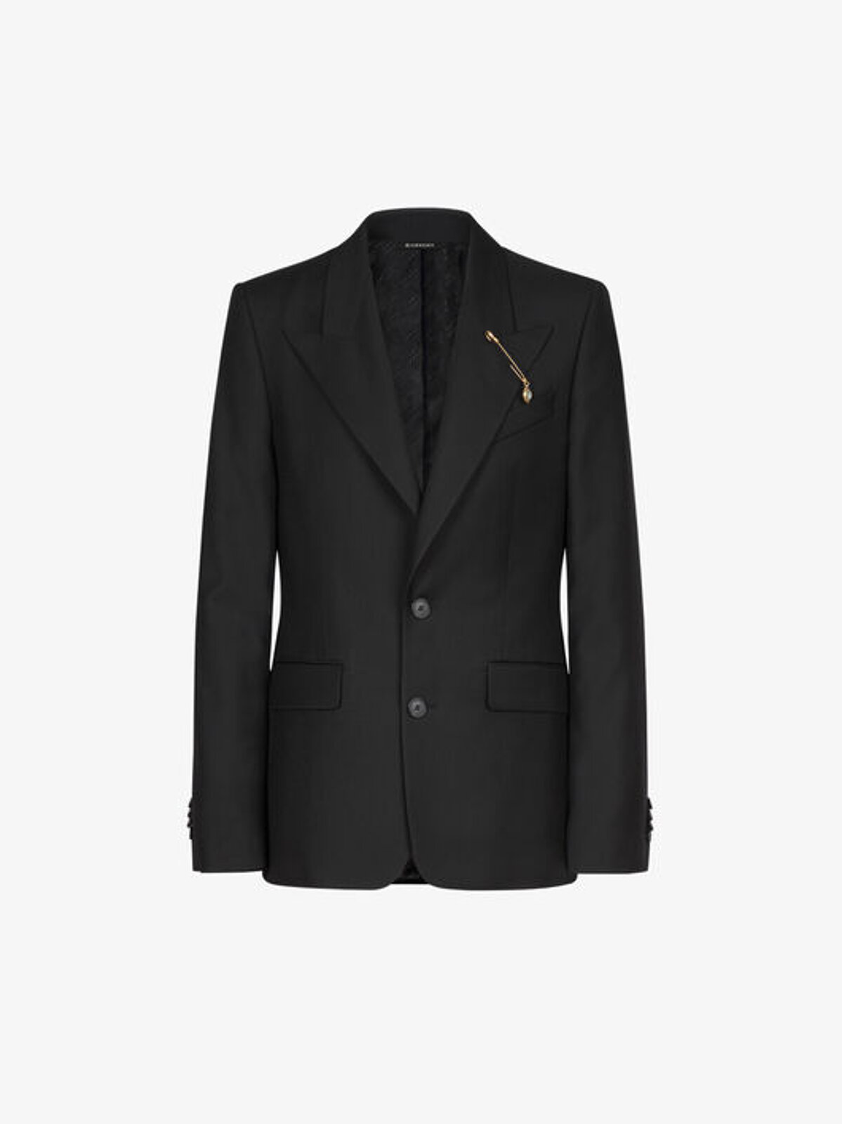 Wool jacket with G brooch - Givenchy