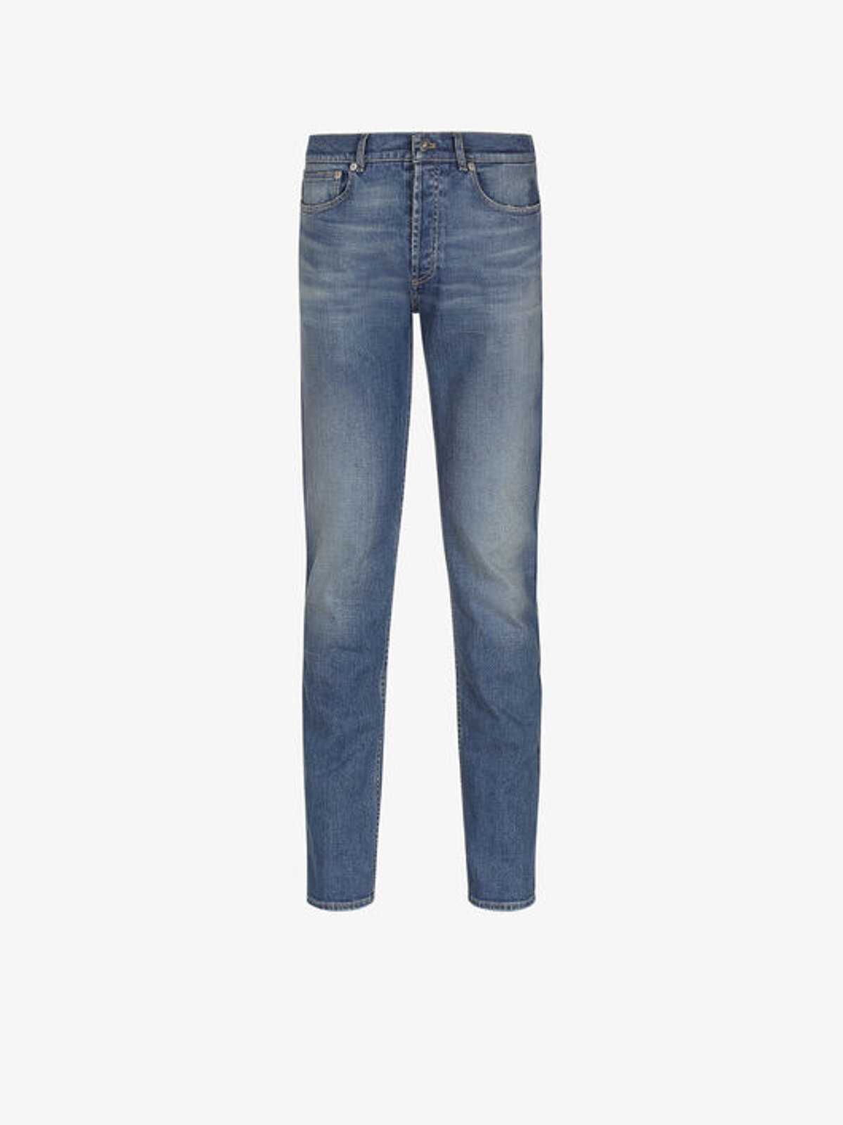 Jeans Slim Fit Con Timbro Givenchy Paris - Givenchy