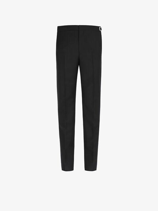 Pantaloni Slim Fit Con Dettagli Di Metallo - Givenchy
