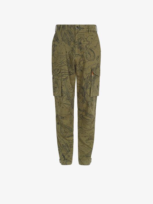 Pantaloni Cargo Con Stampa Astral - Givenchy