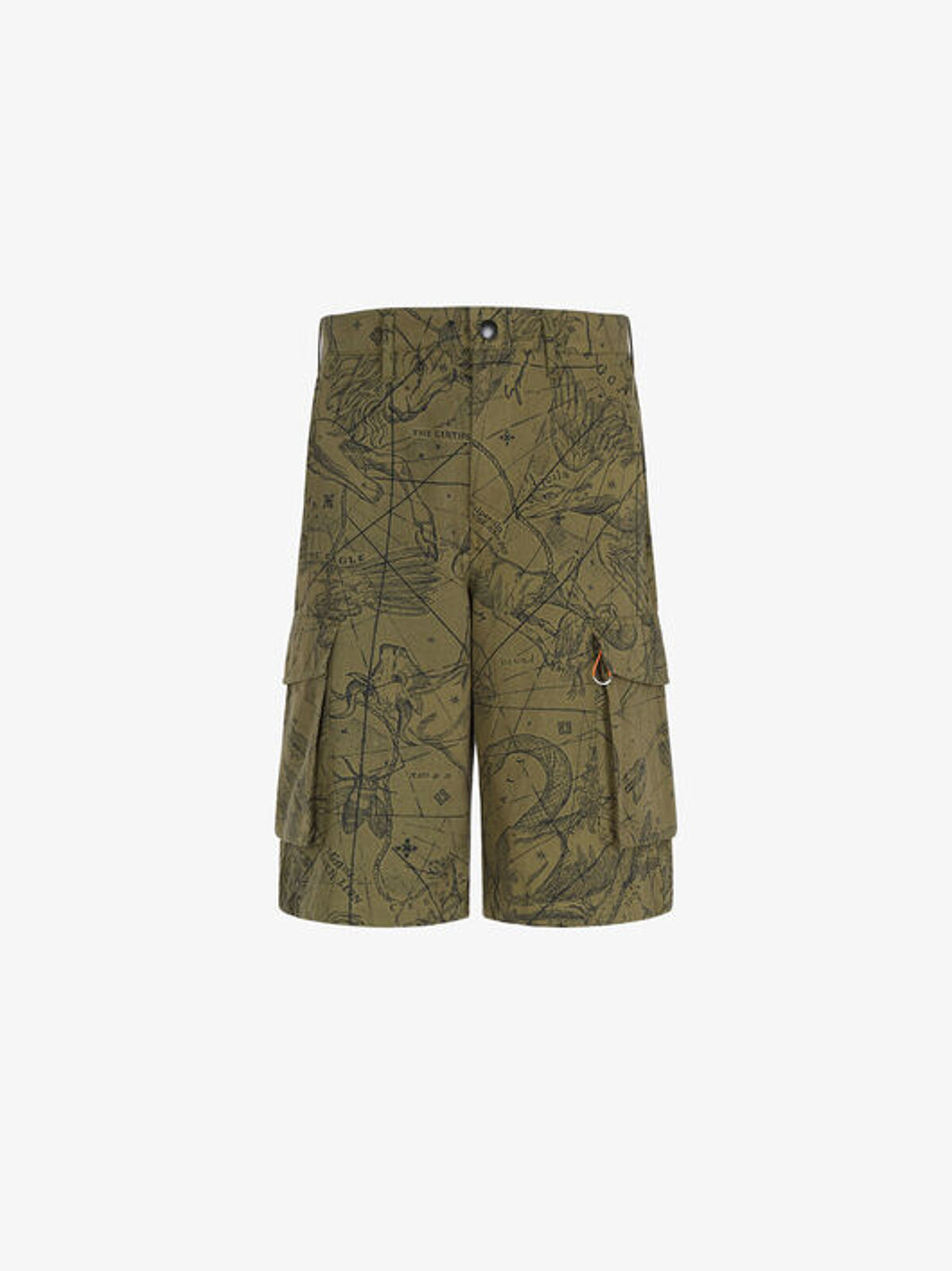 Multi-pocket cargo Bermuda shorts with Astral print - Givenchy