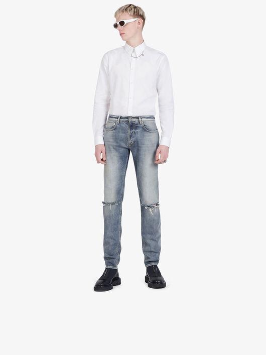 Jeans Skinny Délavé Effetto Destroyed - Givenchy