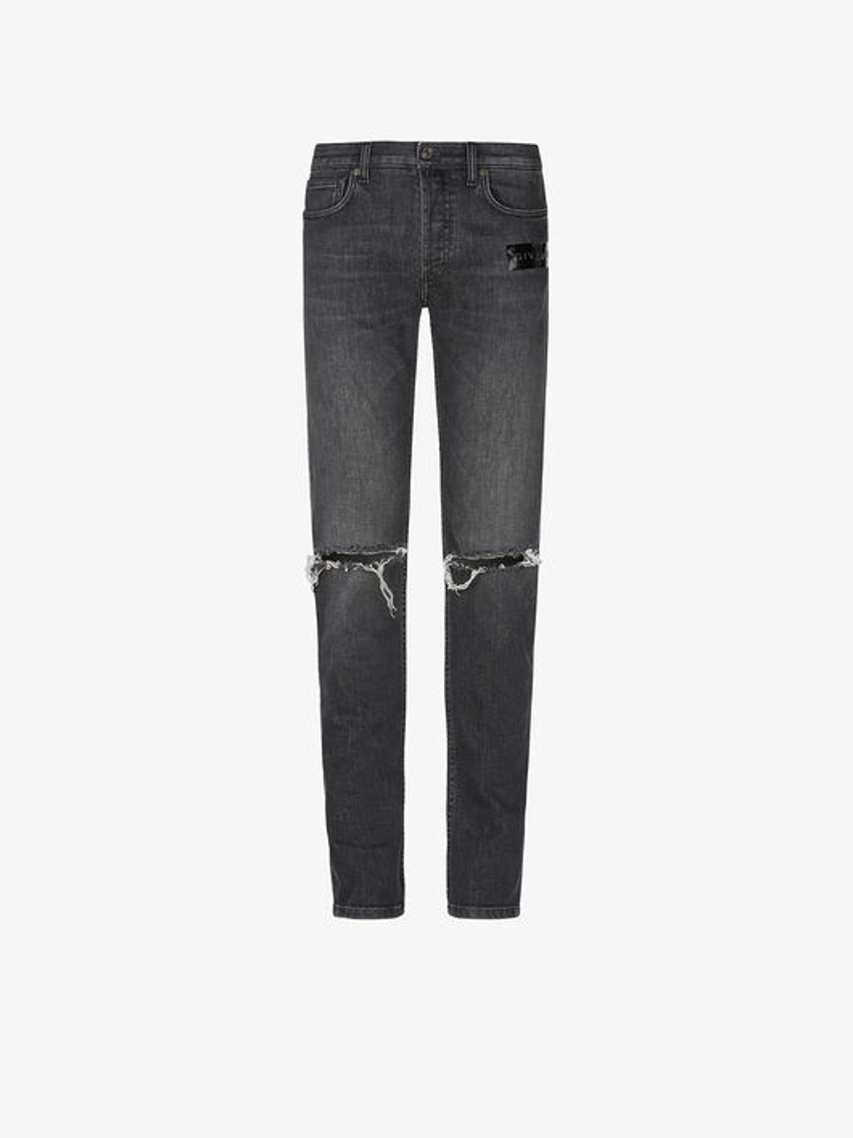 Jeans Skinny Effetto Destroyed Con Striscia - Givenchy