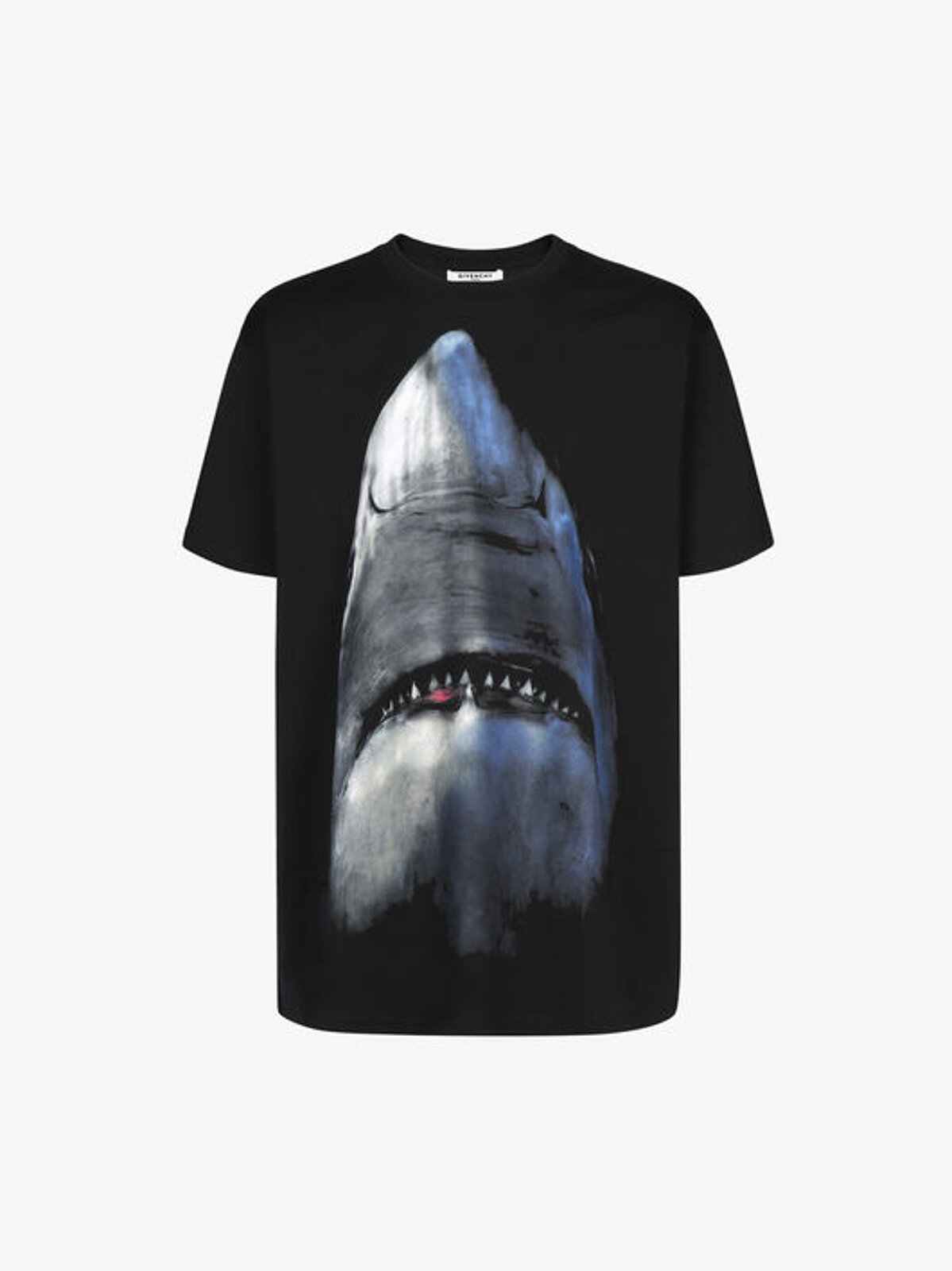 T-Shirt Oversize Con Stampa Shark - Givenchy