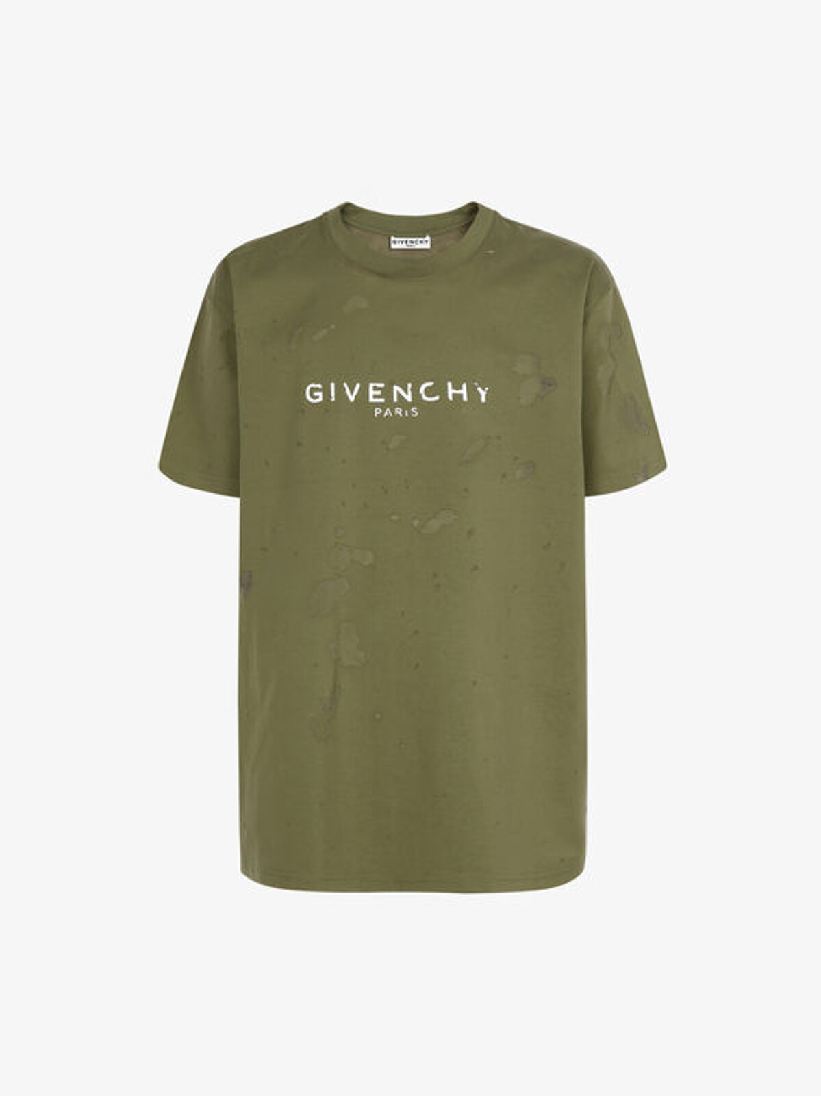 GIVENCHY PARIS destroyed effect T-shirt - Givenchy