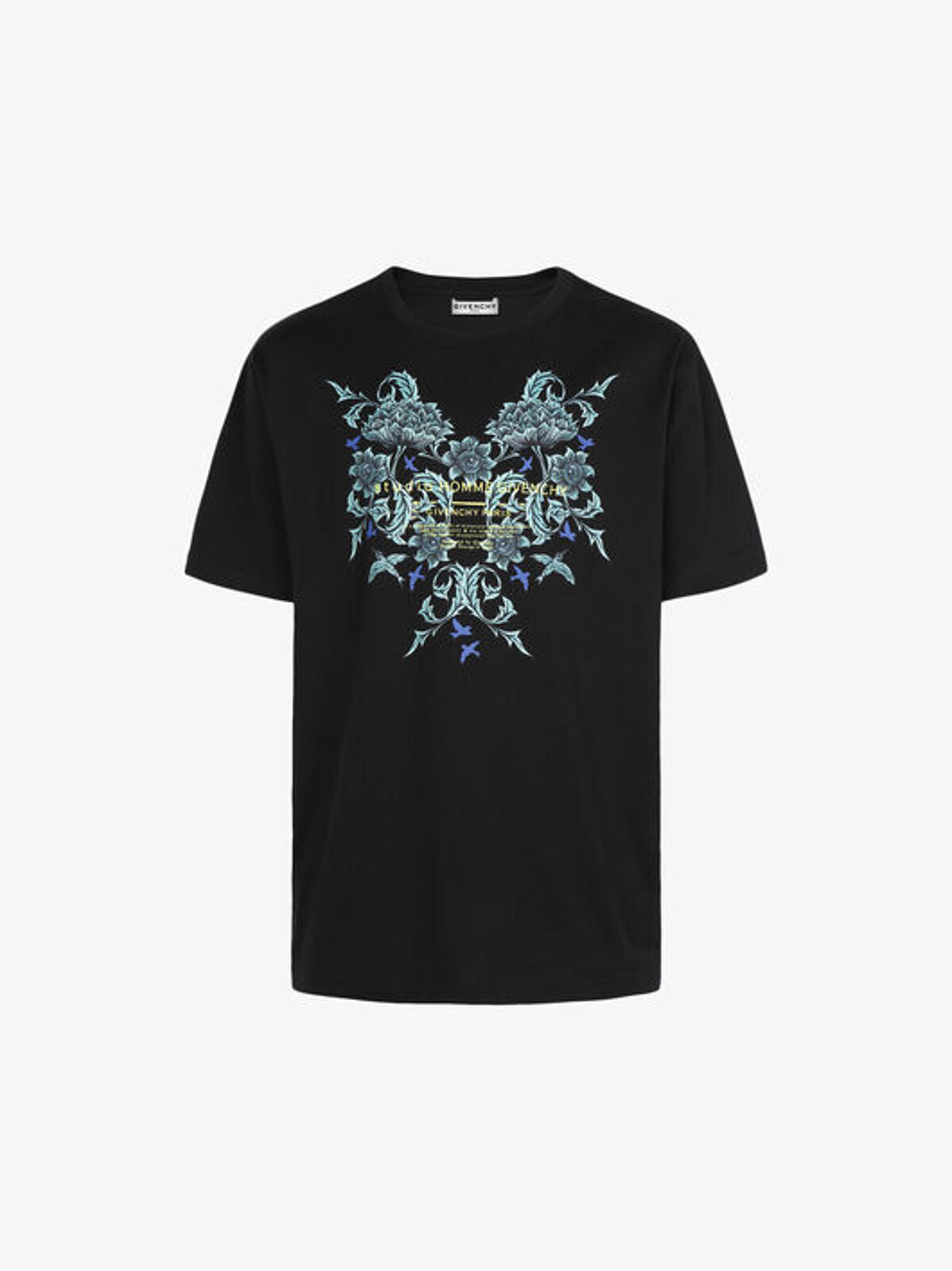 T-Shirt Con Stampa Floreale Studio Homme - Givenchy