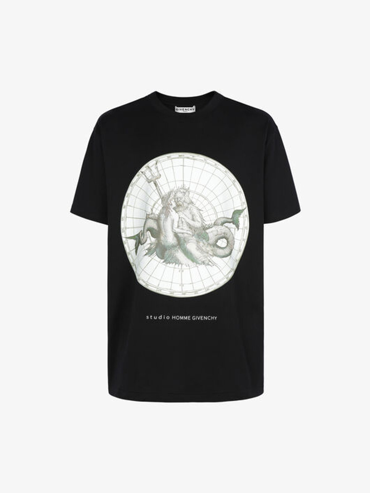 T-Shirt Oversize Con Stampa Poseidone - Givenchy